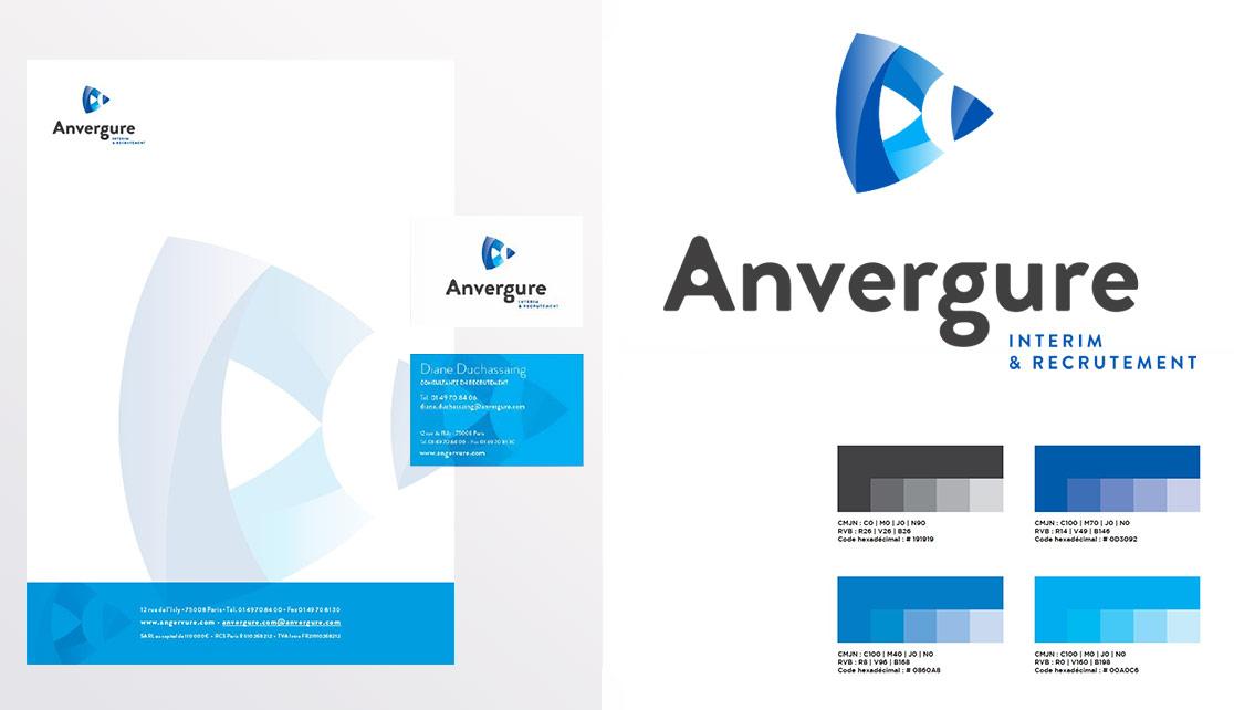Logo et charte graphique Anvergure par Lab Compagnie