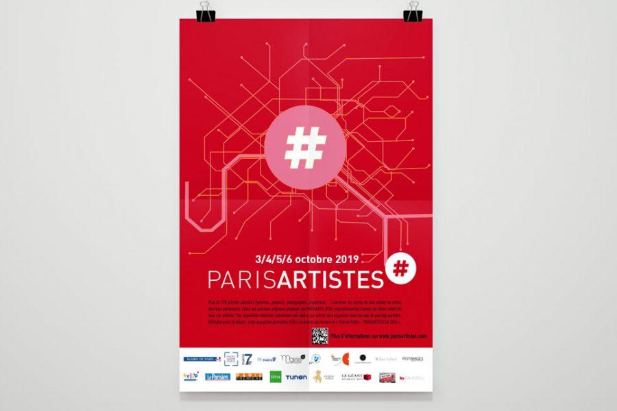 Affiche Paris Artistes par Lab Compagnie